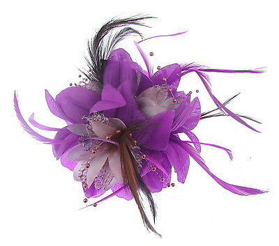 Ascot Races weddings,purple and lilac fascinator clip