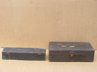 Vintage Wood Box 2 Engineering Tool Wood Boxes Moore Wright Wood Box