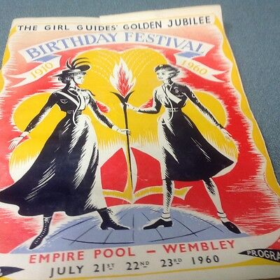 1960 Girl Guides Golden Jubilee birthday festival Empire Pool-Wembley programme