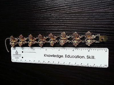 Antique Ornate Butterfly Bracelet - 7 inches long x 1 inch wide - Stamped 800