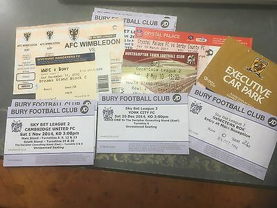 Football tickets  x 11