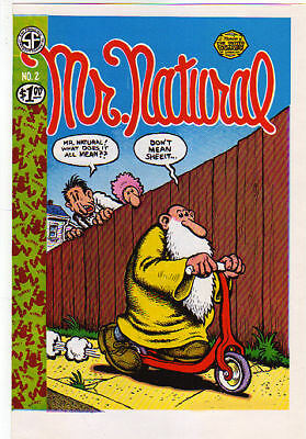 Very Nice Vintage Original 1971 R. Crumb Mr. Natural #2 Untrimmed Cover Proof