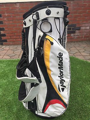 Taylormade Stand Bag White Black Yellow Red