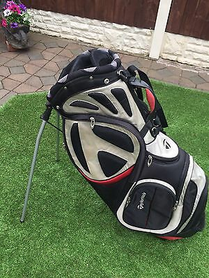 Taylormade Stand Bag Black Red Grey