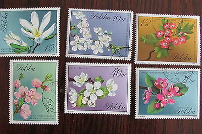 Complete set of 6 stamps Poland No. 1860-65 Flowers