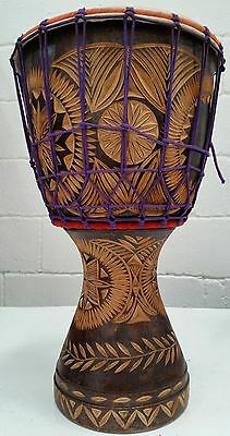 Beautiful Pro Hand-Made and Hand-carved Large Indian Djembe / Percussion Drum