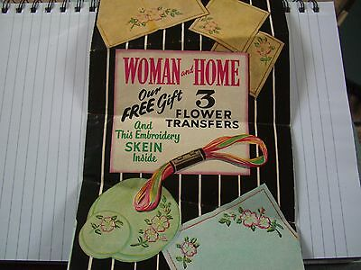 Vintage Embroidery Transfer from Woman and home magazine 1940's