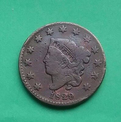US 1829 Matron Head Large Cent - Small Letters