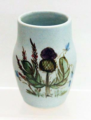 Buchan Pottery Thistle Heather & Bluebell Pattern Classic Vase made in Stoneware
