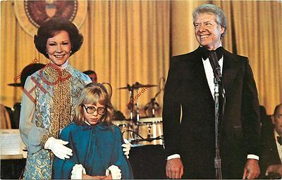 Postcard- President Jimmy Carter, And His Wife And Daughter