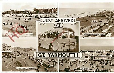 Postcard, Just Arrived At Great Yarmouth (Multiview) [Bamforth]