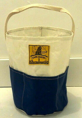 NEW! MAINE MADE NEW RECYCLED SAILCLOTH & CANVAS PAIL 4 Newfoundland Dog Rescue