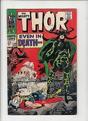 The Mighty Thor #150 VG 1st Hela cover Origin of Triton (Inhumans) Kirby!