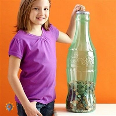 Giant Coin Bank Huge Large Jar Piggy Plastic Savings Penny Cash Present Bottle