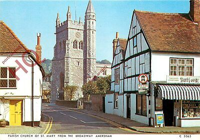Postcard:-Amersham, Parish Church Of St. Mary From The Broadway