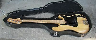 Vintage 1970's Harmony Precision Bass Guitar with case NICE ONE!