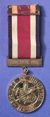 Canadian Corps Of Commissionaires Long Service Medal Nickel Named         Ab0495