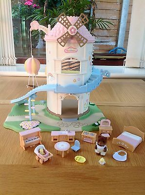 Sylvanian Families Primrose Baby Windmill With Furniture And Figure