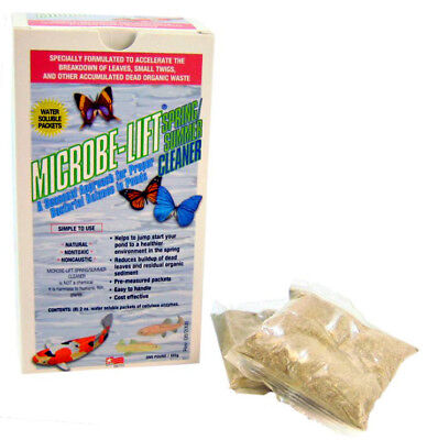 MICROBE-LIFT Spring Summer Cleaner pond Bacterial Balance 8 Packets