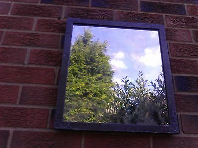 old pewter over wood frame mirror   Arts & Crafts