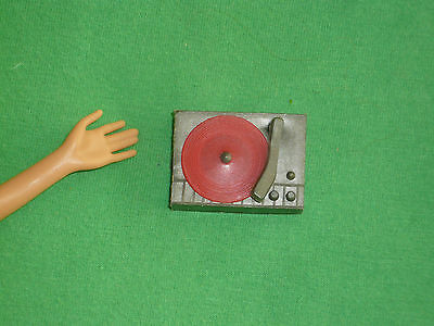 Vintage Barbie Size Accessories~ for Play or Diorama~ Record Player & Red Disc