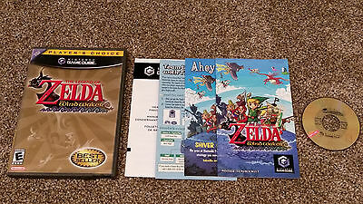 Legend of Zelda: The Wind Waker Nintendo GameCube CIB Game Complete lot TESTED!!