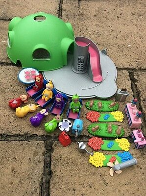 Originl Teletubbies Home Hill Playset Extra Accessories Slide Lights Up Noo-noo