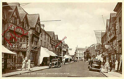 Postcard; Stratford Upon Avon, Harvard House And High Street [Valentine's]