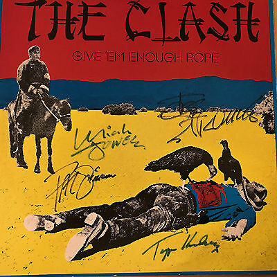 "The Clash Original Lp  "" Give'em Enough Rope""  Signed And Authenticated"