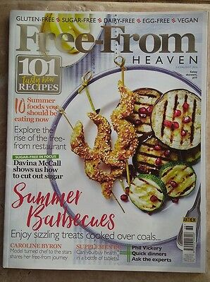 Free-From Heaven magazine July August 2016 Gluten Sugar Dairy Egg Meat free