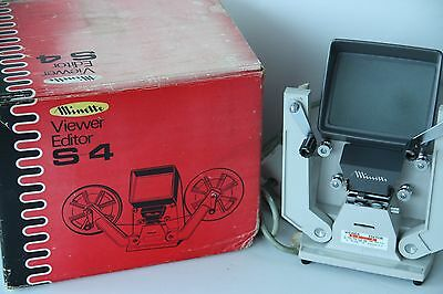 Minette S-4 8mm Cine Film Table Top Viewer & Editor - Boxed - Tested & Working