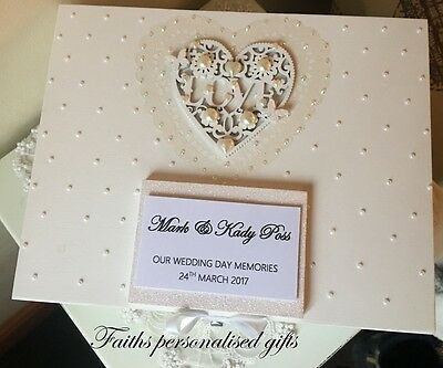 *beautiful Wedding Shabby Chic/vintage  Personalised Wood Keepsake/memory Box*
