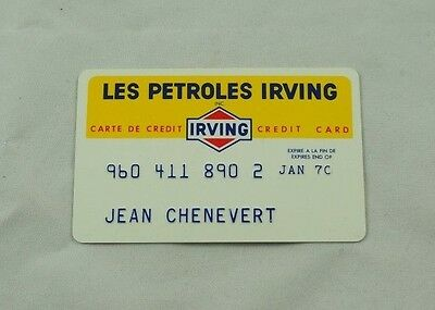 Vintage Irving Oil / Petroles Credit Card, 1960s Expired 1970, French & English
