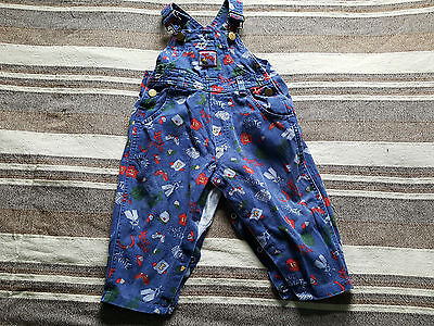 Vtg Retro 80S 90S Denim Baby Boy Dungarees 6-12M