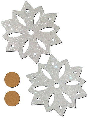 Snow White Glitter Snowflake Nipple Pasties By Pastease