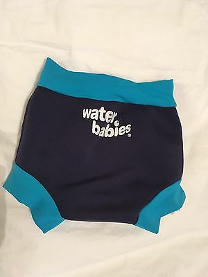Water Babies Happy Nappy Large Navy Turquoise