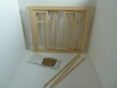 Dolls House Miniature 1:12th Scale Building House Wood Sliding French Doors 4423