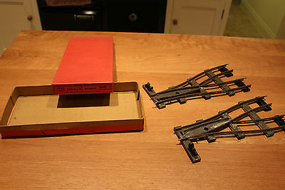 Hornby O Gauge PAIR X2 PARALLEL POINTS PPL2 Great Condition Box Also VGC