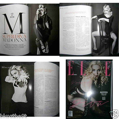 *new* MADONNA on cover Taiwan ELLE Magazine Feb. 2016 Ver.2 Rebel Heart Tour