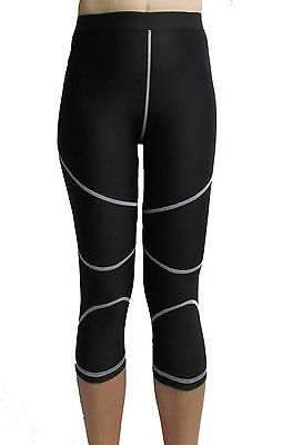Womens Compression 3/4 Length Skins Size 10 Small 14 Large 16 XL Base Layer Pant