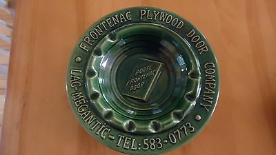 VINTAGE Beauceware Pottery ADVERTISING ASHTRAY LAC MEGANTIC  QUEBEC