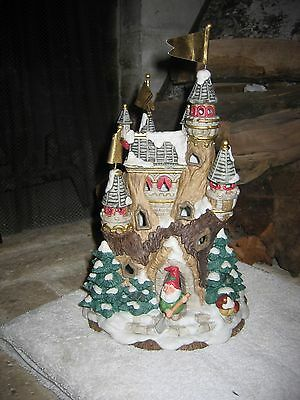 Fitz & Floyd Enchanted Forest Holiday Hamlet Tannenbaum Castle 19/753