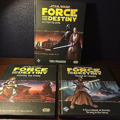 NEW LOT Star Wars FORCE AND DESTINY ROLEPLAYING GAME Core Rulebook Sourcebook +!