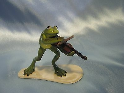 Hagen Renaker Fiddle Player Frog 3181 Figurine Miniature FREE SHIPPING NEW