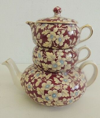 Lord Nelson Royal Brocade Chintz Stacking Teapot - Tea For One