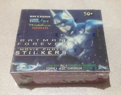 """1995 Topps """"Batman Forever"""" Movie Photo Stickers - Factory Sealed Box - 36 Packs"""