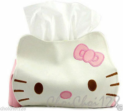 Hello Kitty Leather Tissue Box Cover Holder Car HB07