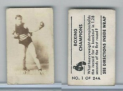 1949 Topps, Magic Photos, Boxing Champions, A #1 Tommy Burns