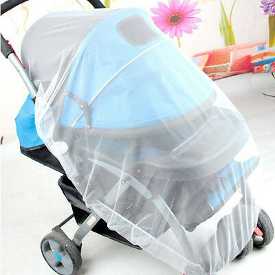 Baby Infant Pushchair Stroller Mosquito Insect Net Safe Mesh Buggy White US