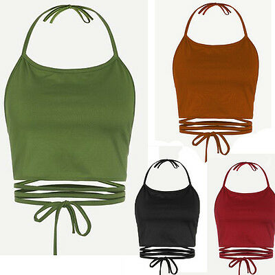 Women Sexy Blouse Sleeveless Backless Vest Halter Tank Tops Blouse T-Shirt Vest